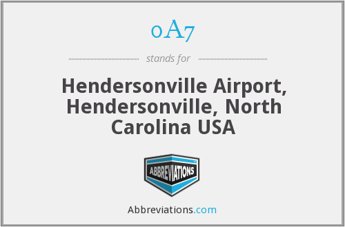 0A7 - Hendersonville Airport, Hendersonville, North Carolina USA
