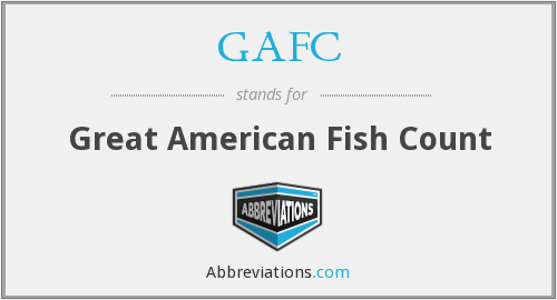 GAFC - Great American Fish Count