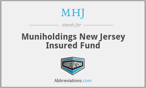 MHJ - Muniholdings New Jersey Insured Fund