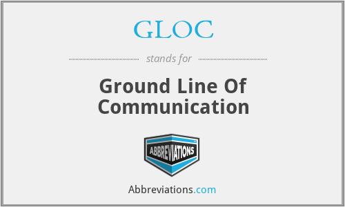 GLOC - Ground Line Of Communication