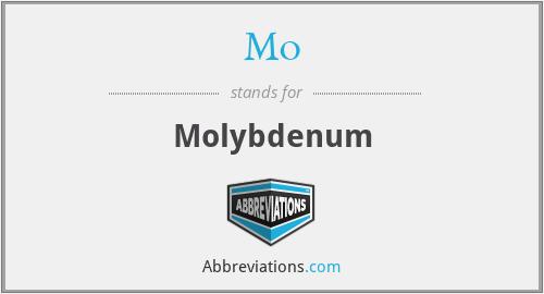 Mo - Molybdenum