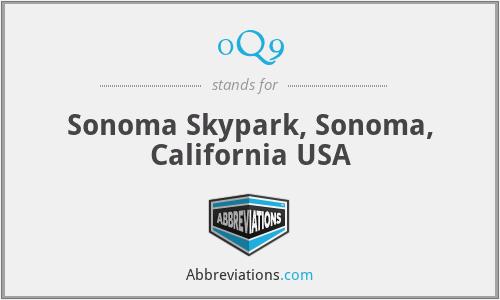 0Q9 - Sonoma Skypark, Sonoma, California USA