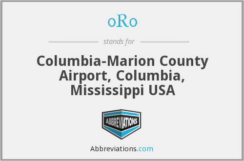 0R0 - Columbia-Marion County Airport, Columbia, Mississippi USA