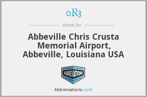 0R3 - Abbeville Chris Crusta Memorial Airport, Abbeville, Louisiana USA
