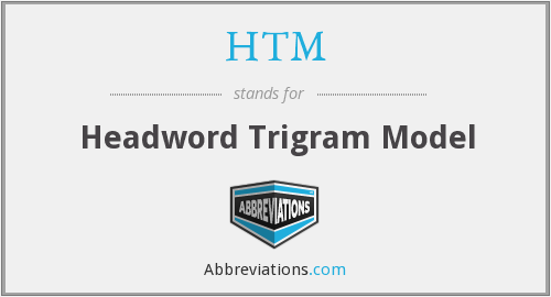HTM - Headword Trigram Model