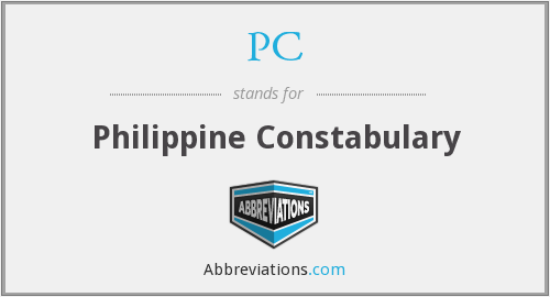 PC - Philippine Constabulary
