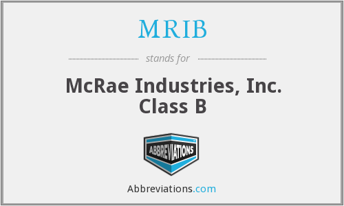 MRIB - McRae Industries, Inc. Class B
