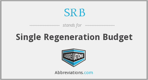 What does SRB stand for?