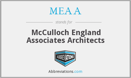 MEAA - McCulloch England Associates Architects