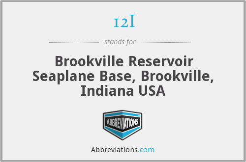 12I - Brookville Reservoir Seaplane Base, Brookville, Indiana USA