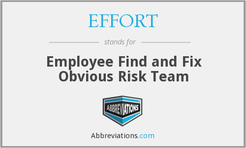 EFFORT - Employee Find and Fix Obvious Risk Team