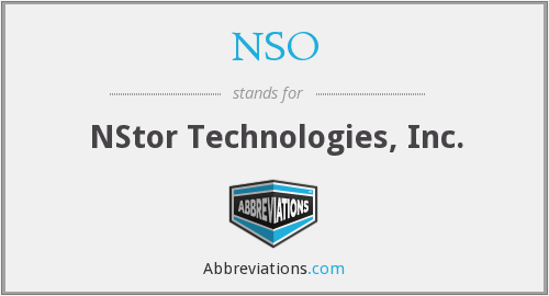 NSO - NStor Technologies, Inc.