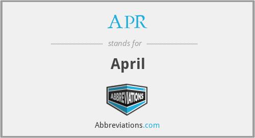APR - April