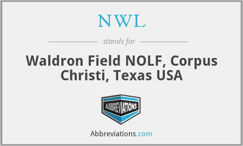 NWL - Waldron Field NOLF, Corpus Christi, Texas USA
