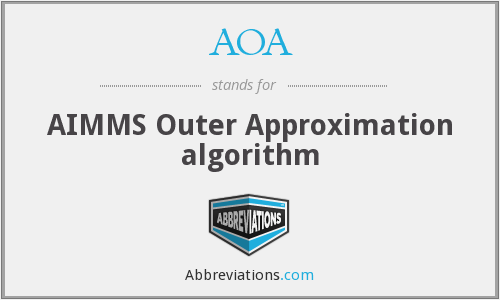 AOA - AIMMS Outer Approximation algorithm