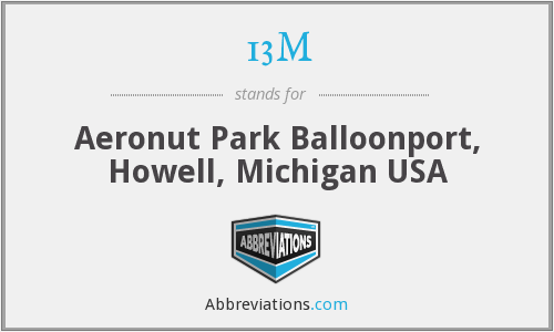 13M - Aeronut Park Balloonport, Howell, Michigan USA