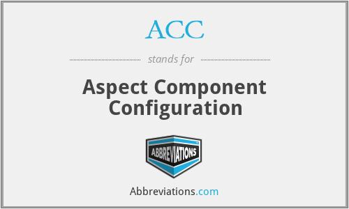 ACC - Aspect Component Configuration