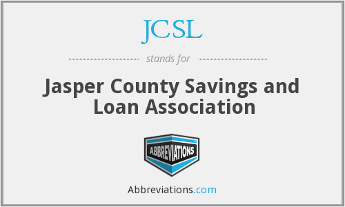 JCSL - Jasper County Savings and Loan Association