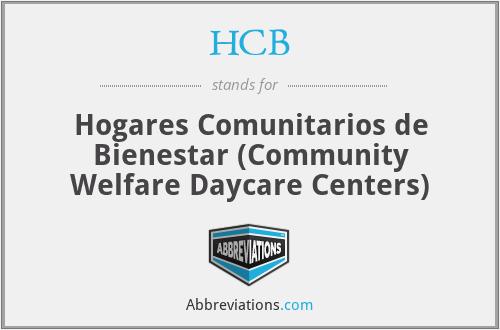 HCB - Hogares Comunitarios de Bienestar (Community Welfare Daycare Centers)