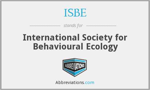 ISBE - International Society for Behavioural Ecology