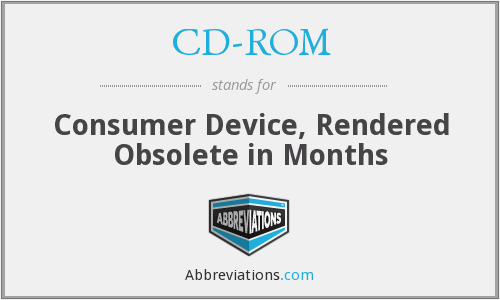 CD-ROM - Consumer Device, Rendered Obsolete in Months