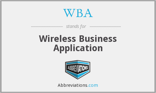 WBA - Wireless Business Application