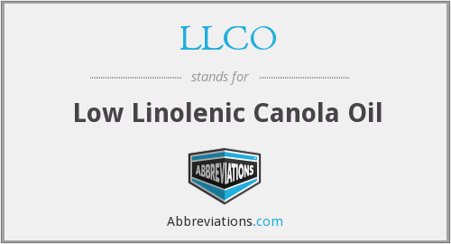 LLCO - Low Linolenic Canola Oil