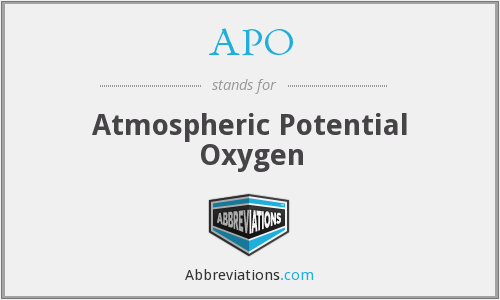 APO - Atmospheric Potential Oxygen