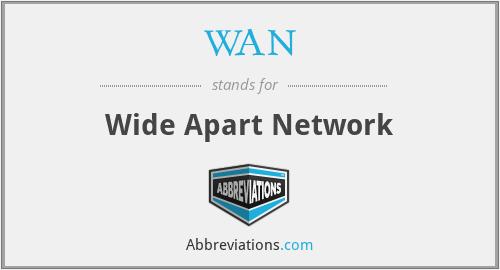 WAN - Wide Apart Network