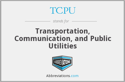 TCPU - Transportation, Communication, and Public Utilities