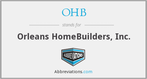What does OHB stand for?