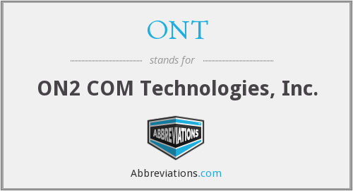 ONT - ON2 COM Technologies, Inc.