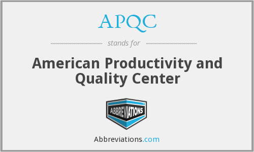 APQC - American Productivity and Quality Center