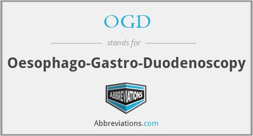 OGD - Oesophago-Gastro-Duodenoscopy