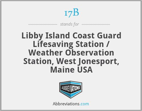 17B - Libby Island Coast Guard Lifesaving Station / Weather Observation Station, West Jonesport, Maine USA