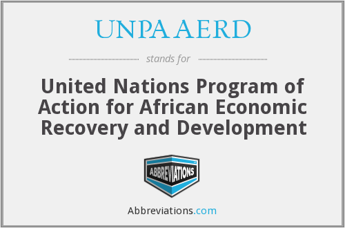 UNPAAERD - United Nations Program of Action for African Economic Recovery and Development
