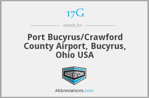 17G - Port Bucyrus/Crawford County Airport, Bucyrus, Ohio USA
