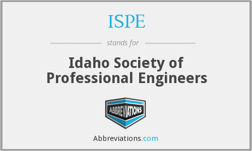 ISPE - Idaho Society of Professional Engineers
