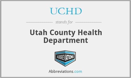 UCHD - Utah County Health Department