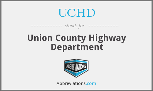 UCHD - Union County Highway Department