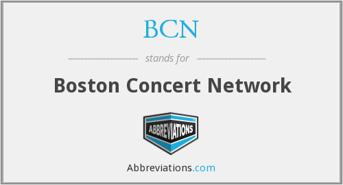 BCN - Boston Concert Network