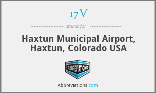 17V - Haxtun Municipal Airport, Haxtun, Colorado USA