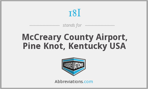 18I - McCreary County Airport, Pine Knot, Kentucky USA