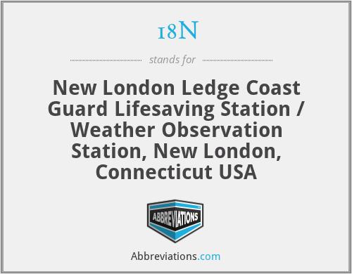 18N - New London Ledge Coast Guard Lifesaving Station / Weather Observation Station, New London, Connecticut USA