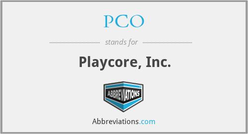 PCO - Playcore, Inc.