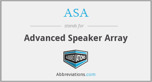 ASA - Advanced Speaker Array