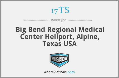 17TS - Big Bend Regional Medical Center Heliport, Alpine, Texas USA
