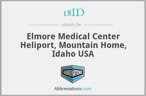 18ID - Elmore Medical Center Heliport, Mountain Home, Idaho USA