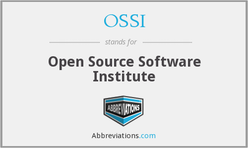 OSSI - Open Source Software Institute