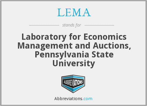 LEMA - Laboratory for Economics Management and Auctions, Pennsylvania State University
